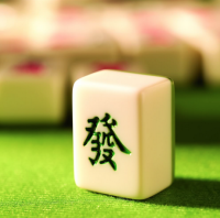 """The character """"Fa"""" in Chinese Mahjong."""
